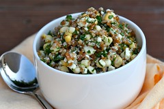 Bulgur salad with corn, basil, and feta 3