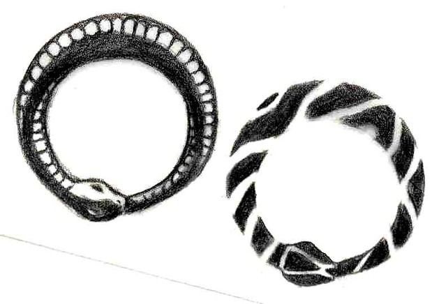 Some of you asked for my ouroboros tattoo design, so here it is. Enjoy.