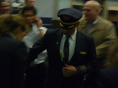 Captain Russo After His Retirement Flight on United 737