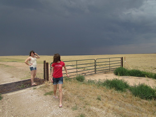 Taylor and Callie, and storms near Arnett.