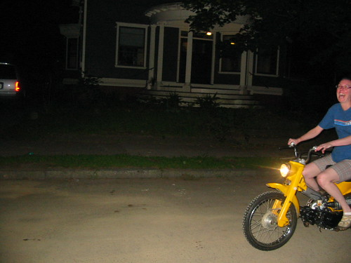 Me on the 1967 CT90...if youve never ridden one of these things, you simply do not know what youre missing