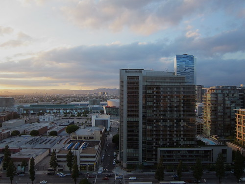 The view from my office - Evo South, Staples Center, Ritz Carlton