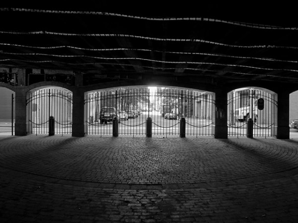 arches under the FDR drive