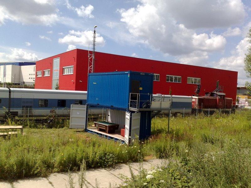 Sportification Container an der Warschauer Brücke