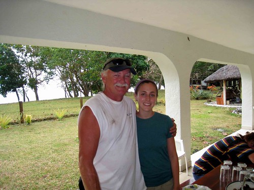 Hannah with Jim from Cardeaat Lamango Ranch, Malekula