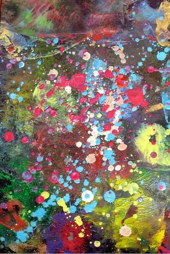 Lutradur Melted Oil Pastels Background