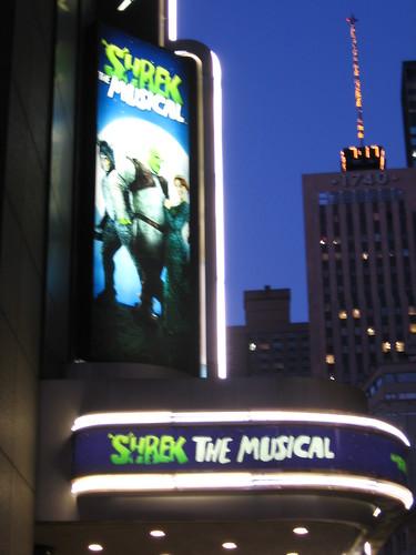 The Shrek marquee.