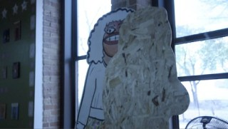 Goons. Still from video. The Chicago Street Art Show. Chicago Urban Art Society. Chicago, IL. 2011. Photograph by Nicolette Caldwell.