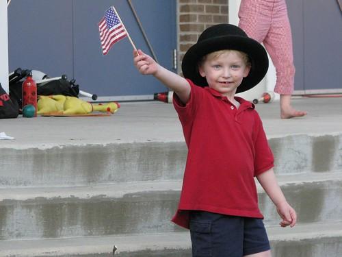 Evan celebrates the 4th!