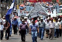 反クーデターのゼネスト中のホンジュラス労働者(7月30日/Pan-African News Wire)