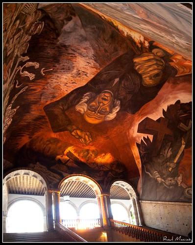 Mural Miguel Hidalgo de Jose Clemente Orozco, Panoramica
