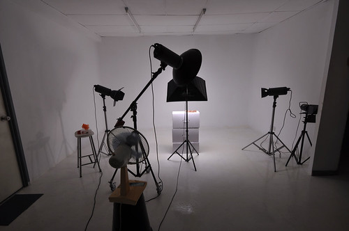 Studio view during shooting session