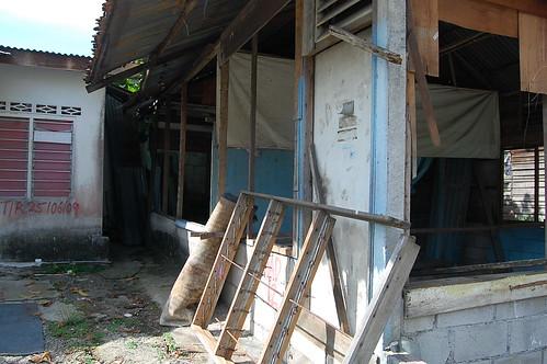 Raja Nong Chik - Lawatan kerja ke Setinggan Simpang 3, Jalan Pantai Dalam, 11 Julai 2009