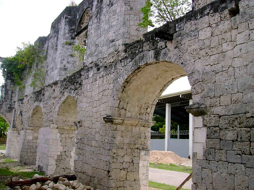 Meter thich arch windows of the Spanish unfinished military installation