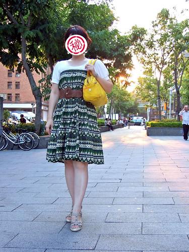 加上腰封變成洋裝穿法,是不是也很讚!