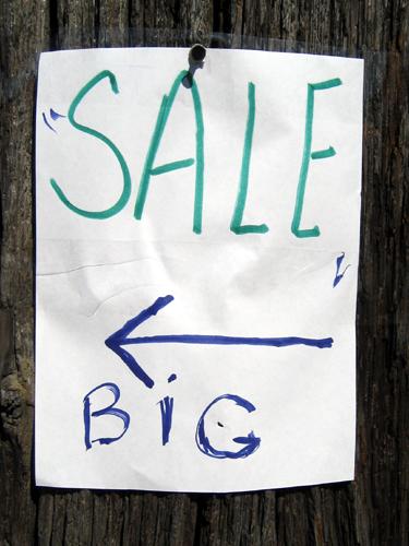 Sale, Big
