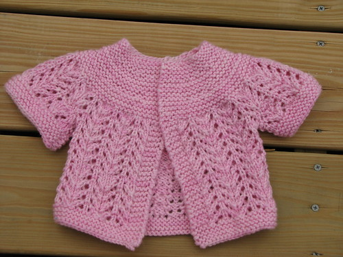 February Baby Sweater, Lornas Laces Shepherd Worsted, Whisper