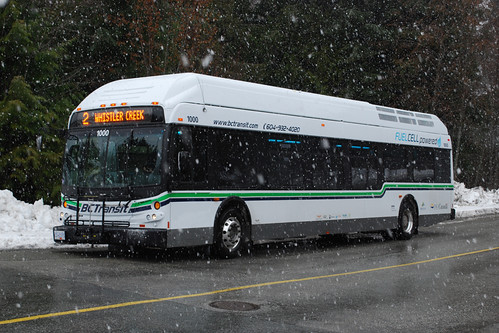 Whistler fuel cell bus - photo by Chris Cassidy on flickr