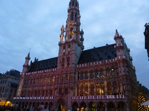 Town Hall in Town Square Brussels Belgium