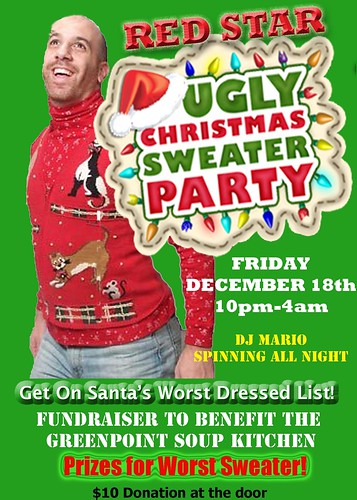 Red Star Ugly Sweater Xmas Party