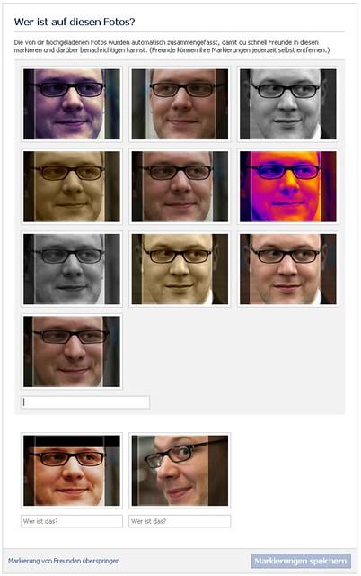 fotos von FB als ähnlich erkannt und gruppiert dargestellt