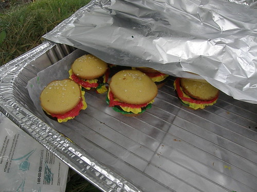 Allana brought these amazing burger cupcakes