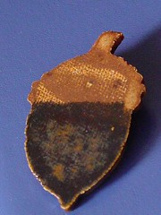 Clay Acorn Pin