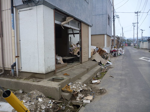 気仙沼市南郷の様子, 震災復興ボランティア Nango, Kesennuma, Miyagi pref. Damaged area by the Tsunami of Japan quake
