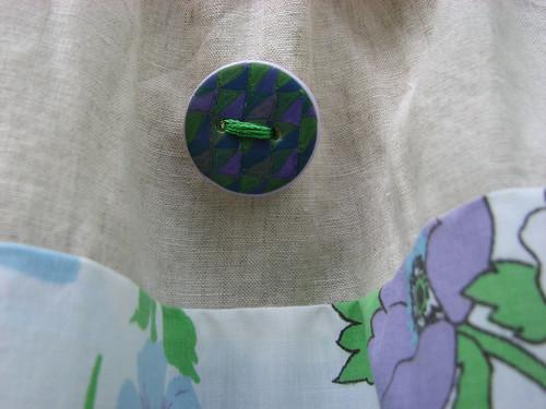 Button detail on pillowcase dress