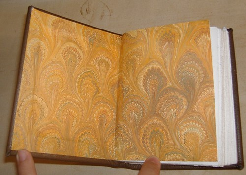 ML's book, endpapers by you.