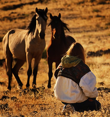 Whispering to wild horses....