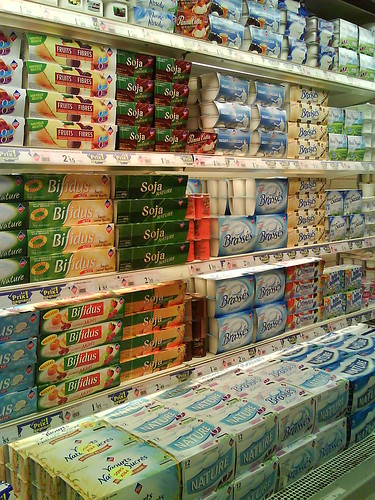 Leader Price Yogurt Aisle