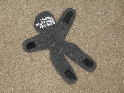 North Face glove doll