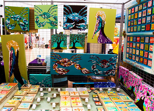 An artists booth outside of Eastern Market. Crabs and coastal fauna are kind of a big deal in the area.