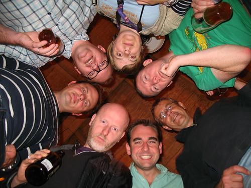 From the top: Helen, me, Nick, Oli, Nigel, Mark & Simon