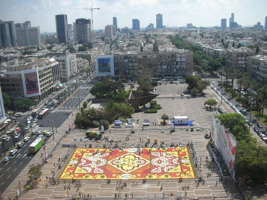 Tel-Aviv Flower Carpet From Above