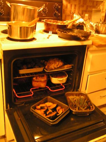 Oven pulling triple duty