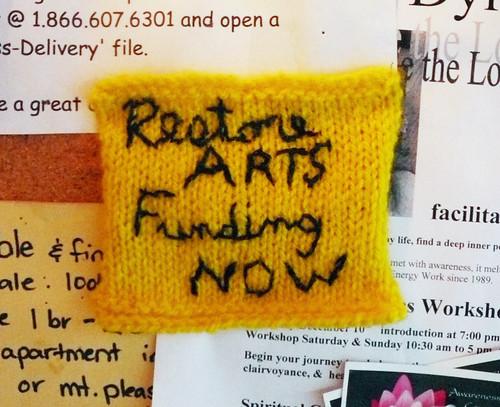 ArtsCutsMemo by knitgirl - closeup