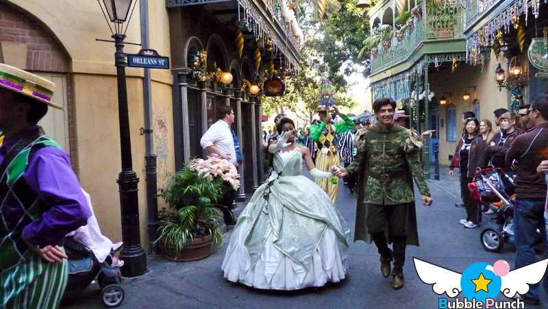 A little mardi gras parade escorts them to and from the showboat! SO CUTE!