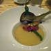Sweetfish Fritter with Warm Ratatouille Consomme
