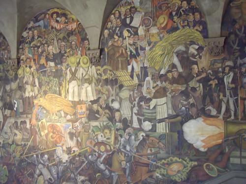 Mural de Diego Rivera en el Palacio Nacional de México