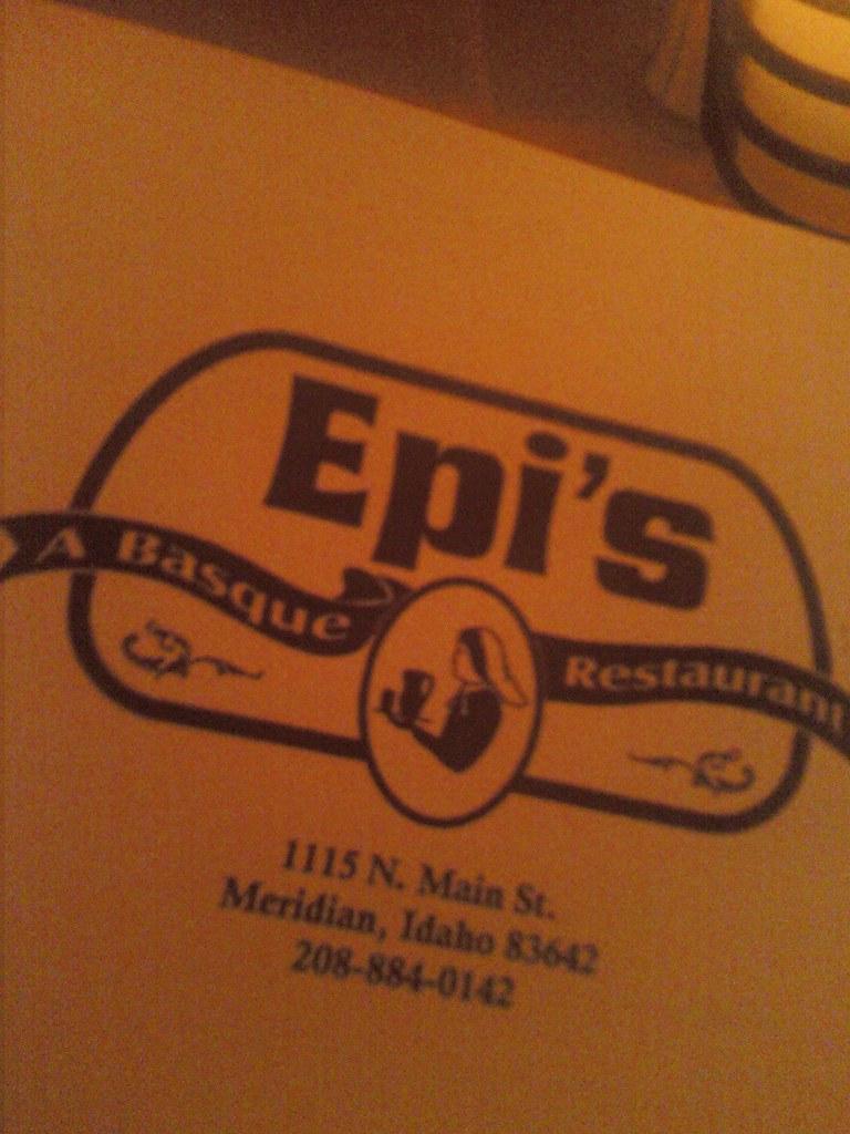 Epis Menu: Address and Number