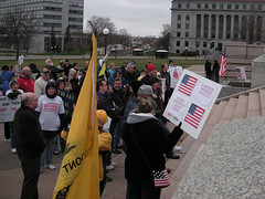 Protest by the Tea Parties Against Amnesty and...