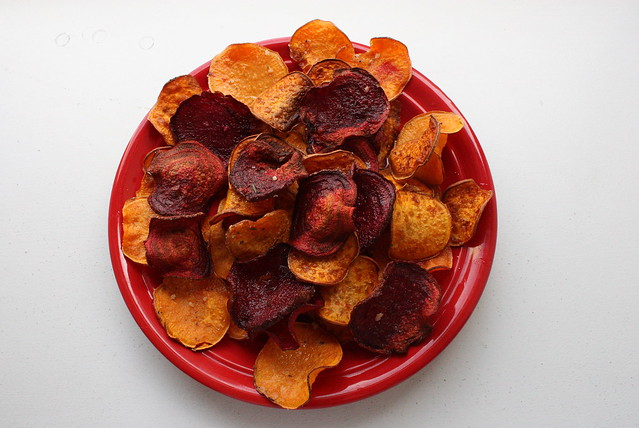 Beet and Sweet Potato Chips