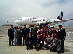 Volaris Team in Front of Airplane