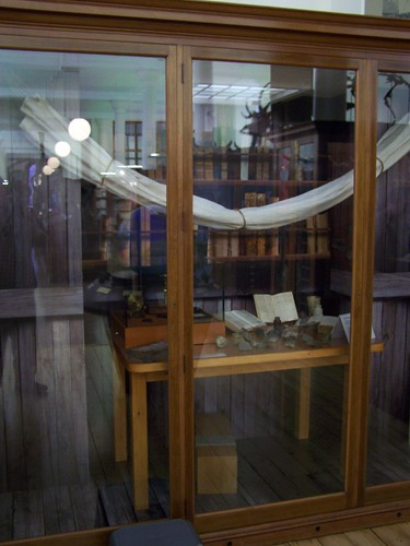 Recreation of Darwins cabin on HMS Beagle
