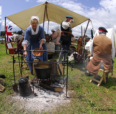 British Encampment - Get It While It's Hot - Plains of Abraham Re-Enactment, Founders Day 2009, Ogdensburg, New York