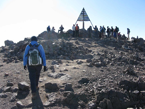 Jebel Toubkal summit - almost there!