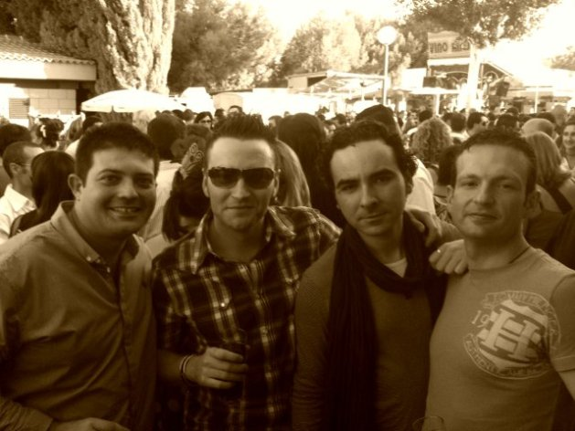 Con Cardi, Petrus y Antonio Lebrón