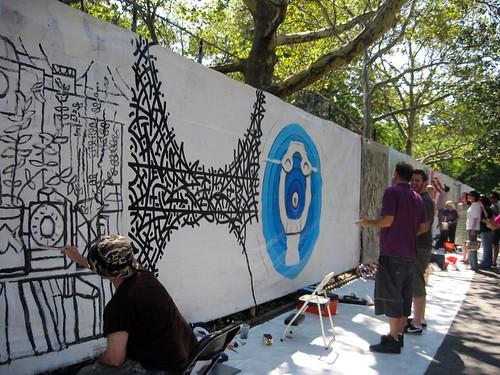 Howl Festival mural art.